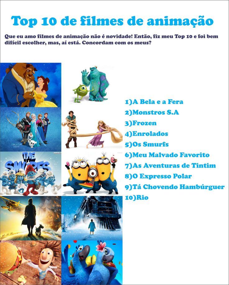 Top 10 de filmes de animação